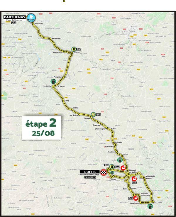 Etape 2 - Parthenay > Ruffec - Tour du Poitou-Charentes en Nouvelle-Aquitaine