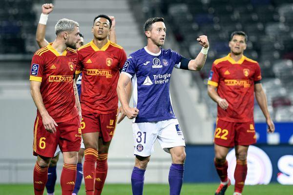 Le Toulouse Football Club opposé à Rodez lors de la 7ème journée de la saison 2020/2021