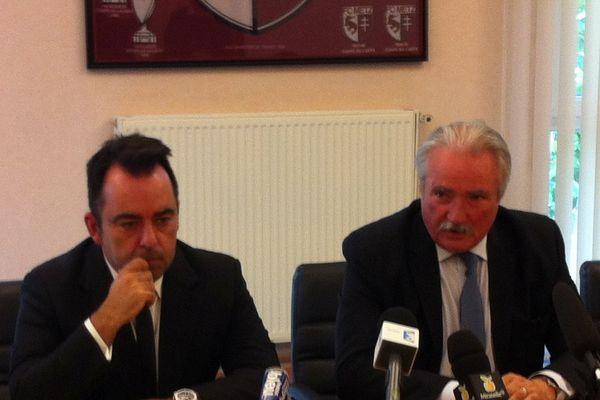 Carlos Freitas, à gauche, est le nouveau directeur sportif du FC Metz.