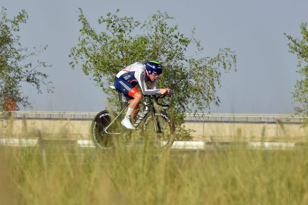 Alex Dowsett (ici, en octobre 2016) a remporté le contre-la-montre du circuit de la Sarthe Pays de la Loire