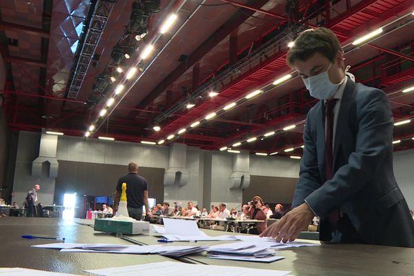 Distanciation oblige, le premier conseil municipal de la nouvelle mandature s'est tenu au Centre des Expositions du Mans.