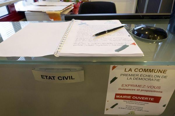 Cahier de doléances pour le grand débat national. Mairie d'Aix-Noulette (62), le 7 janvier 2019