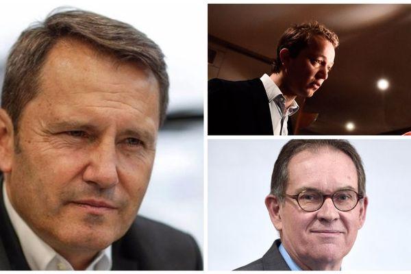 """Gilles Dufeigneux, Maël de Calan et Alain Cadec représentants de la droite façon """"puzzle"""""""