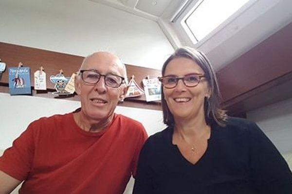 Sandrine et Jean-Marie Mulot, confinés sur leur bateau