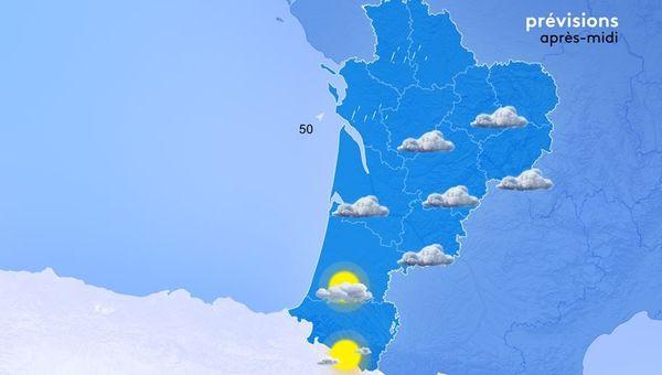 Le ciel est varié ce matin selon que vous habitez à Poitiers, Limoges, Bordeaux ou Pau.
