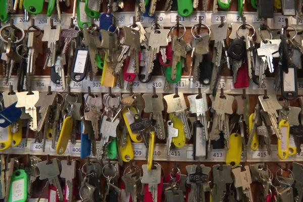 Les trousseaux de clés de la résidence universitaire d'Amiens sud.