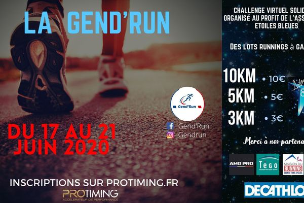 Affiche officielle de la Gend'Run 2020