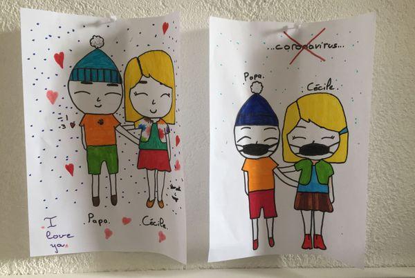 Le dessin envoyé par ma belle-fille de 12 ans.