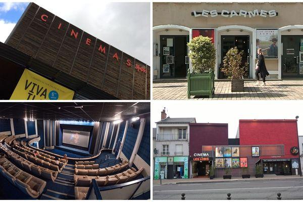 Les Studios à Tours, Les Carmes à Orléans, L'Apollo à Châteauroux et Les Lobis à Blois. Montage France Télévisions