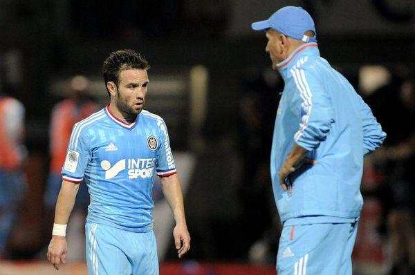 Mathieu Valbuena, toujours en bleu, le 16 septembre 2012, contre AS Nancy Lorraine.