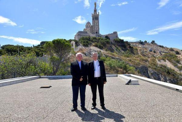 Mgr Jean-Marc Aveline et Mgr Georges Pontier
