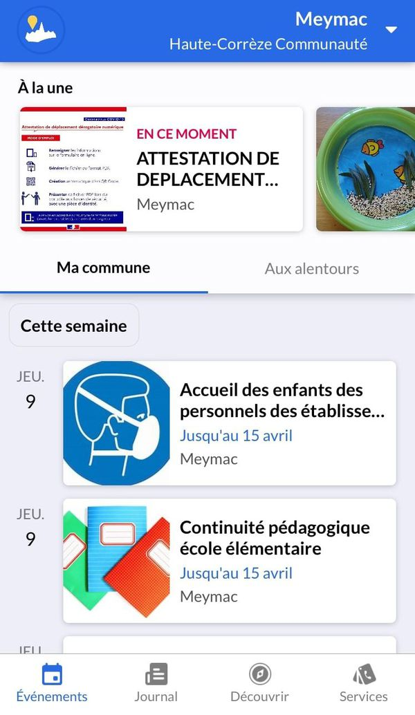 IntraMuros propose une interface simple et intuitive.