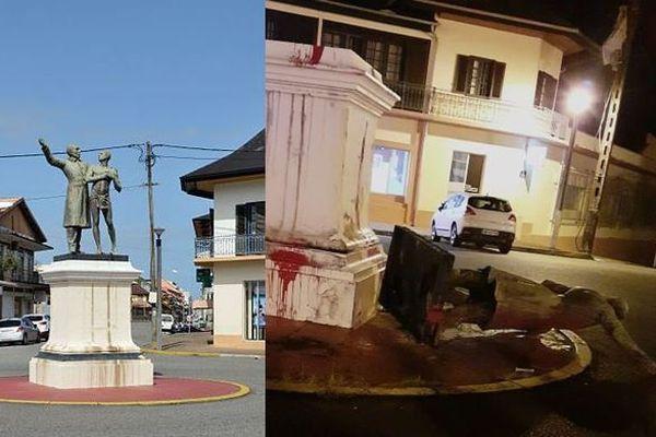 Dans nuit du vendredi au samedi 18 juillet, la statue de Victor Schoelcher a été renversée de son piédestal, à Cayenne.