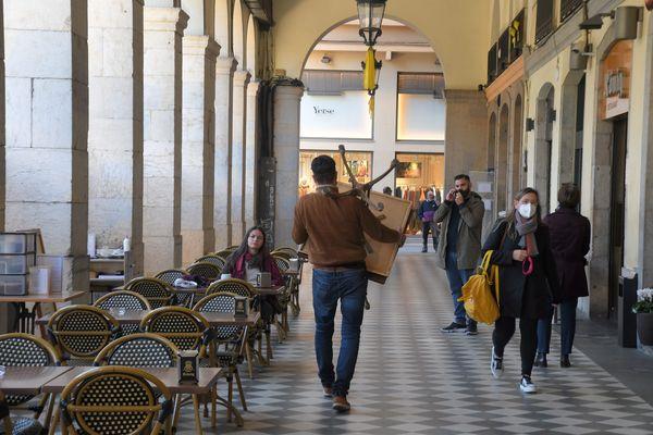 A partir du 8 février, la Catalogne, comme ici à Gérone, va assouplir ses mesures restrictives par rapport au Covid-19