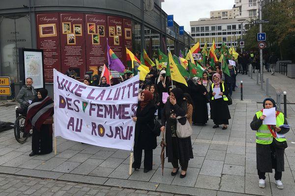 Environ 200 personnes ont manifesté dans les rues de Rennes