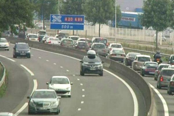 trafic sur l'autoroute A20 (photo d'illustration)