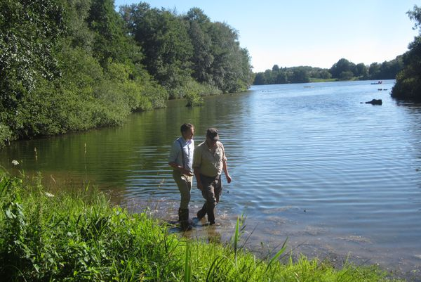 Guillaume Pierre à la découverte de l'étang du Malsaucy sur le Territoire de Belfort