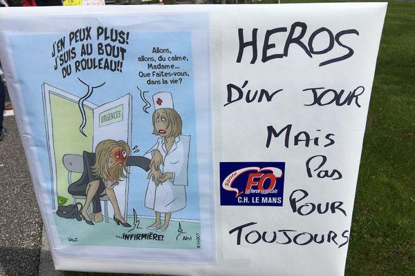 Le personnel de centre hospitalier du Mans en voie d'épuisement collectif