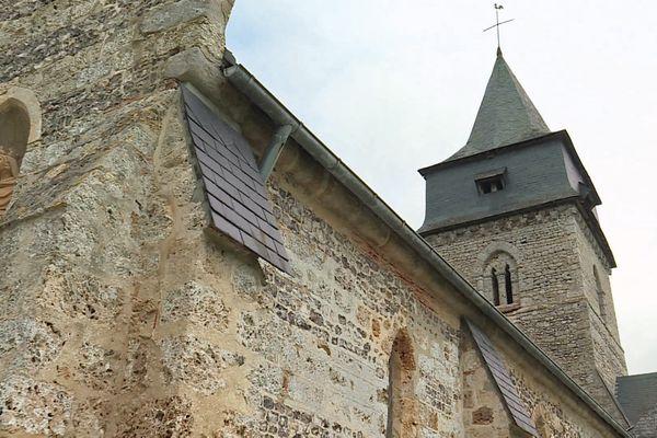 Clocher de l'église d' d'Hermanville (Seine-Maritime)
