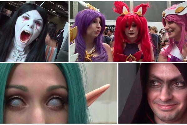 Quelques-uns des cosplayeurs croisés au Bordeaux Geek Festival.