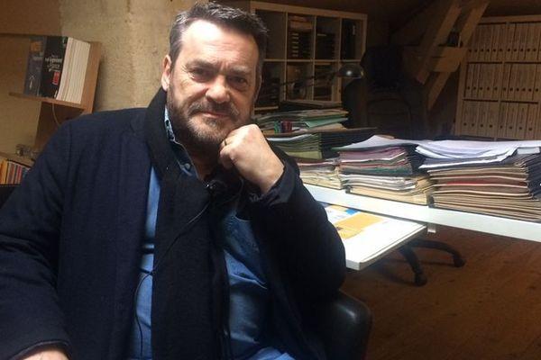 Pascal Lafargue, à son bureau du quartier Nansouty de Bordeaux.