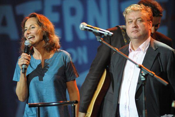 Ségolène Royal et Dominique Besnehard lors de la fête de la fraternité en 2008 à Paris.