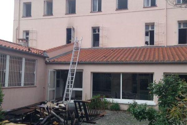 L'incendie s'est déclaré dans une chambre du premier étage
