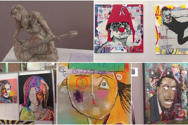 Des œuvres d'art contemporains seront exposées et mises en vente tout le week-end.