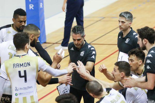 Les hommes de Brice Donat, ici face à Nantes-Rezé le 20 février 2021, ont terminé leur saison.