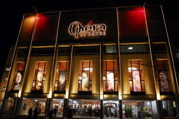 L'opéra de Limoges, éclairé un soir de spectacle
