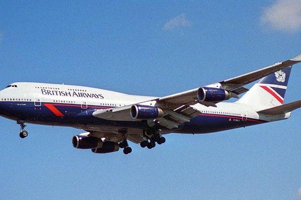 Un avion de British airways.