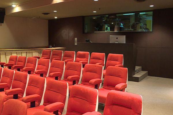 La salle de projection de Kodak, qui permettait aux chefs opérateurs de comparer les différentes émulsions film