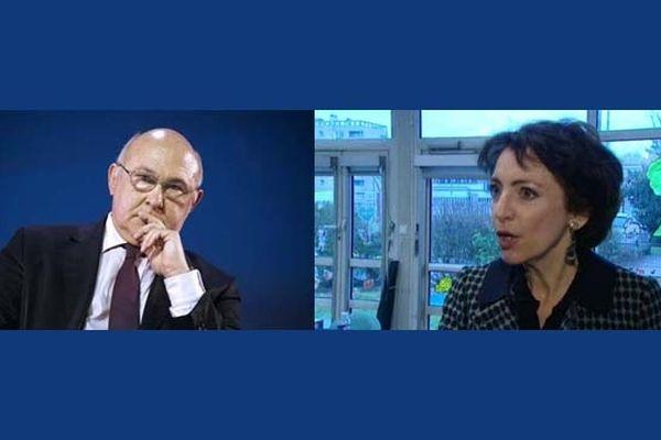 Michel Sapin, ministre du Travail, de l'Emploi et de la Formation professionnelle et Marisol Touraine, Ministre des Affaires sociales et de la Santé