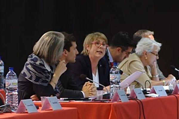 Intervention de France Jamet (FN) lors du vote du nom de la région LRMP à Montpellier le 24 juin 2016