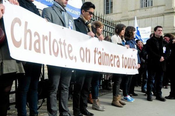 Lors de la marche blanche du comité de soutien de la famille en janvier 2014