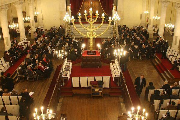Image d'archives, la grande synagogue de Bordeaux.