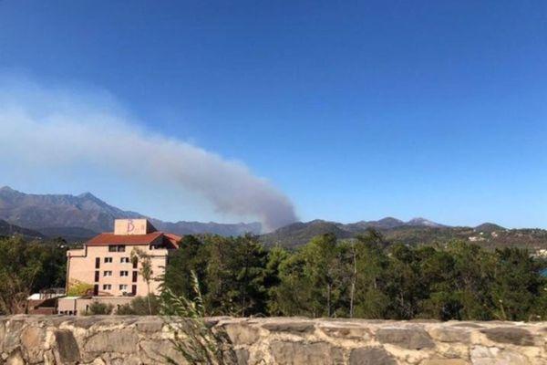 L'incendie de Montegrossu, en Balagne, jeudi 27 août.