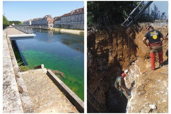 Le Doubs se colore en vert, de la fluorescéine a été injectée dans une faille découverte sur un chantier à Besançon.