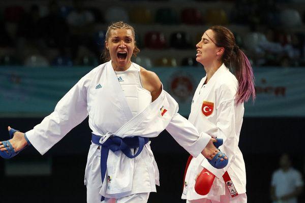 Pour la première fois de son histoire, le karaté sera sport olympique à Tokyo en 2020. Ici, Anne-Laure Florentin (Budokan Orléans) au combat.