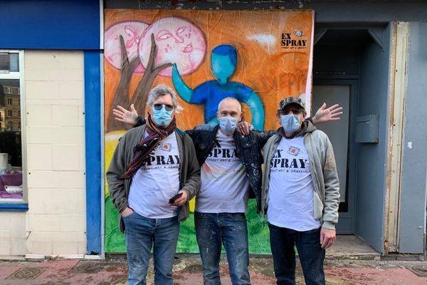 L'application permet au collectif Ex-Spray de Dieppe de recenser ses œuvres de rue