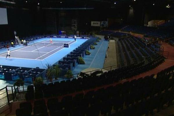 Le Zénith de Caen ce dimanche matin avant l'ouverture de l'Open de Caen.
