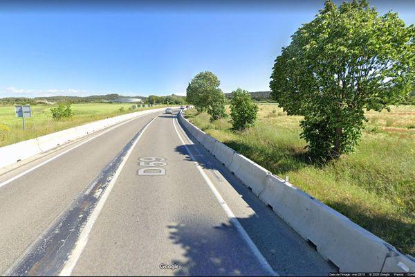 Capture d'écran Google Maps, mort d'un motard le 22 juillet 2020 après avoir percuté un sanglier à Aix-en-Provence.
