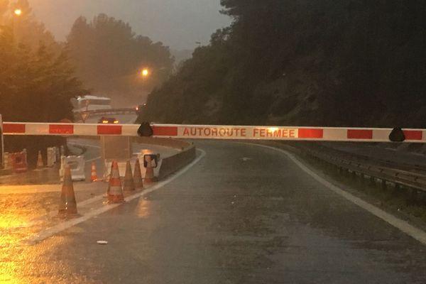 A8 est fermé en direction de Monaco/Nice
