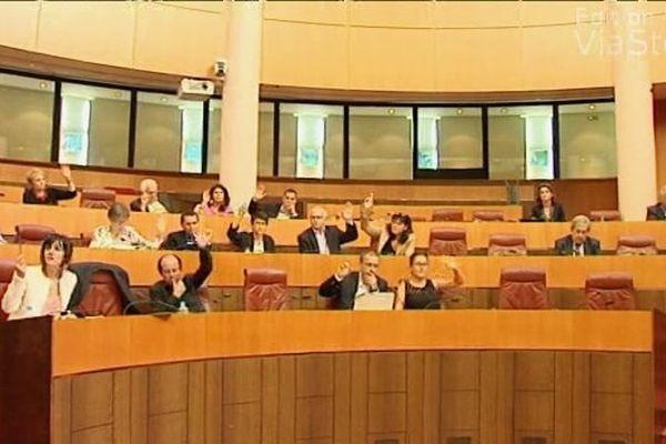 25/09/14 - Université de Corse motion des élus de l'Assemblée de Corse