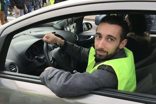 Julien Terrier, l'un des principaux organisateurs du mouvement des gilets jaunes à Grenoble.