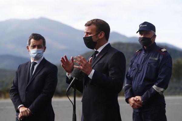 La dernière visite du président de la République dans la région remonte au 5 novembre 2020 au Perthus, dans les Pyrénées-Orientales, sur le thème de la sécurité et du terrorisme.