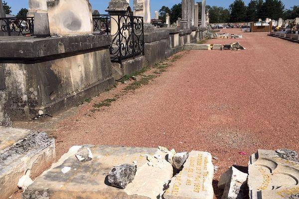 Roanne :  la mairie cherche les propriétaires des 300 stèles endommagées par la mini-tempête