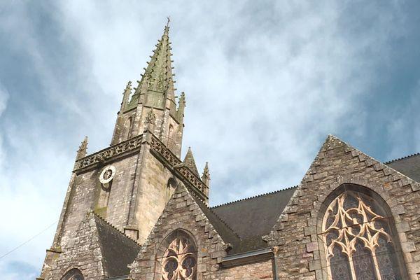 Les églises comme celle de Pontivy n'accueille plus de messes, en raison de l'épidémie de Coronavirus