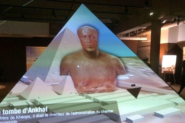 """L'exposition """"Khéops, la grande pyramide"""" à l'Espace Mendès-France de Poitiers jusqu'au 5 janvier 2020."""