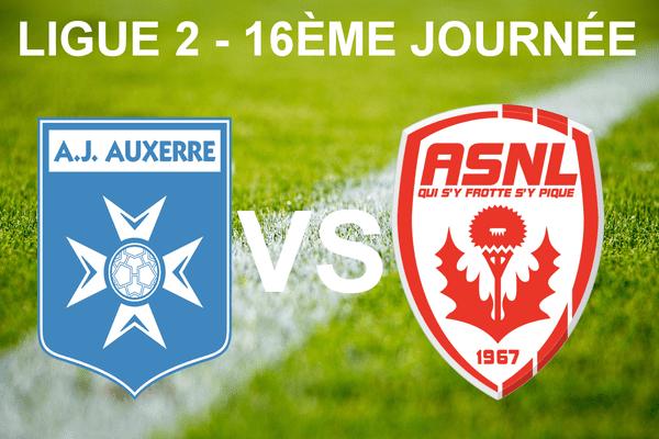 Ligue 2 - 16ème journée - AJ Auxerre vs AS Nancy Lorraine